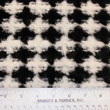 Houndstooth Printed Faux Fur - Black/White