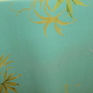 Tropical Floral Printed Silk Georgette - Aquamarine