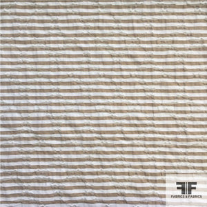 Striped Novelty Cotton - Brown/White