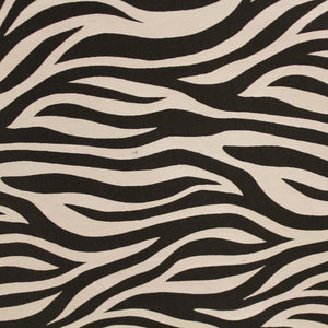 Zebra Print Silk Wool - Black/White