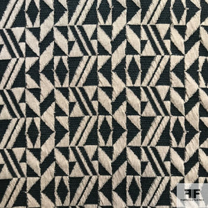 Geometric Novelty Knit - Black/Brown