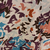 Brush Stroke Printed Silk Twill - Multicolor