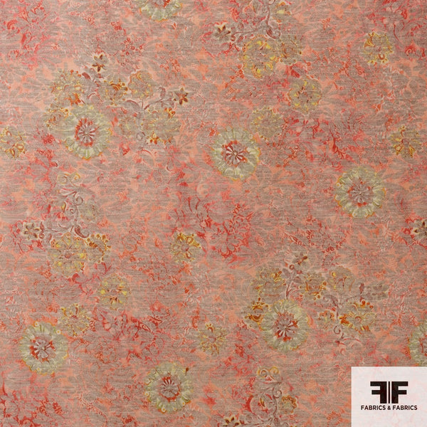 Floral Woven Brocade - Pink