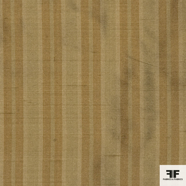 Yard Died Silk Striped - Taupe/Orange