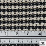 Cotton Blend Suiting - Black/White - Fabrics & Fabrics NY