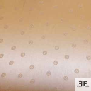 Polka Dot Silk Jacquard - Tan