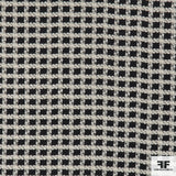 Checkered Wool Suiting - Navy/White - Fabrics & Fabrics NY