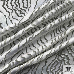 Abstract Silk Burnout - White