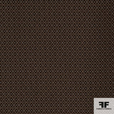 Geometric Woven Brocade - Brown