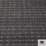 Pin Stripe Wool Suiting - Black