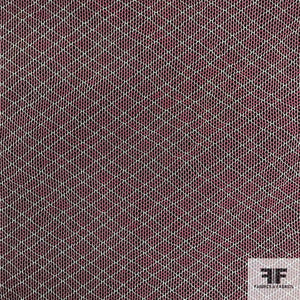 Checkered Cotton Tulle - Burgundy - Fabrics & Fabrics NY