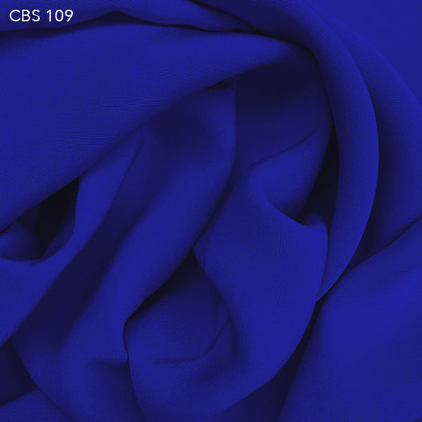 Silk Crepe Back Satin - Royal Blue - Fabrics & Fabrics