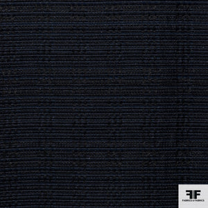 Textured Striped Suiting - Blue/Navy/Black