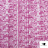 Broken Gingham Check Printed Cotton - Pink/White - Fabrics & Fabrics NY