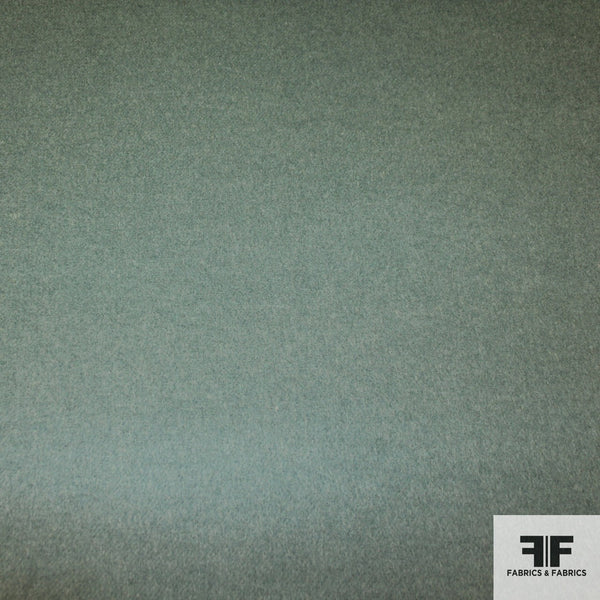 Double-Faced Wool Coating - Teal - Fabrics & Fabrics NY