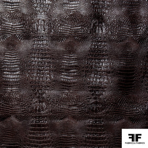 Embossed Alligator Vinyl - Brown - Fabrics & Fabrics NY