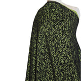 Novelty Knit - Black/Green