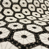 Geometric Embroidered Cotton - Black/White