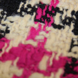 Wool Houndstooth - Pink/Black/Cream