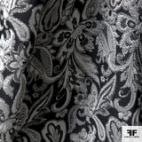 Metallic Paisley Brocade - Black/Silver