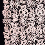 Floral Guipure Lace - Pink