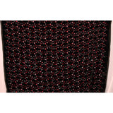 Floral Embroidered Velvet - Black/Red