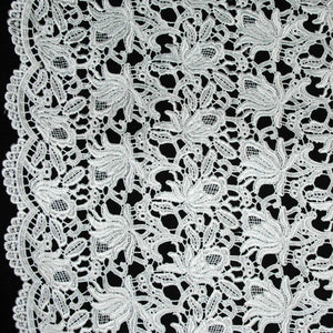 Blooming Florals Guipure Lace - White