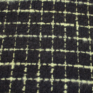 Checkered Wool Suiting - Black/Green - Fabrics & Fabrics NY