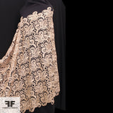 Abstract Floral Guipure Lace - Beige - Fabrics & Fabrics NY