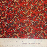 Abstract Printed Silk Chiffon - Red - Fabrics & Fabrics NY