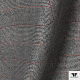 Wool Tweed Houndstooth- Black