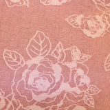 Rose Printed Novelty Knit - Pink