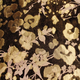 Floral Metallic Printed Lamé - Black/Gold