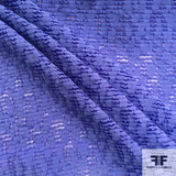 Striped Novelty Cotton fabric in violet color