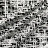 Textured Woven Novelty fabric - Black/White