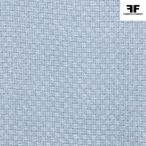 Basket Weave Cotton Suiting - Blue
