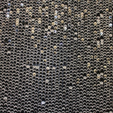 Sequins on Netting - Black/White