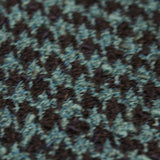 Wool Houndstooth - Navy/Turquoise