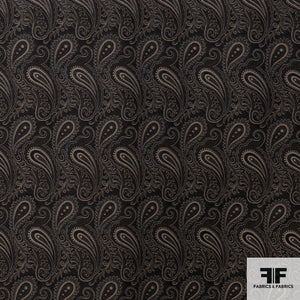 Paisley Woven Brocade - Black/Brown