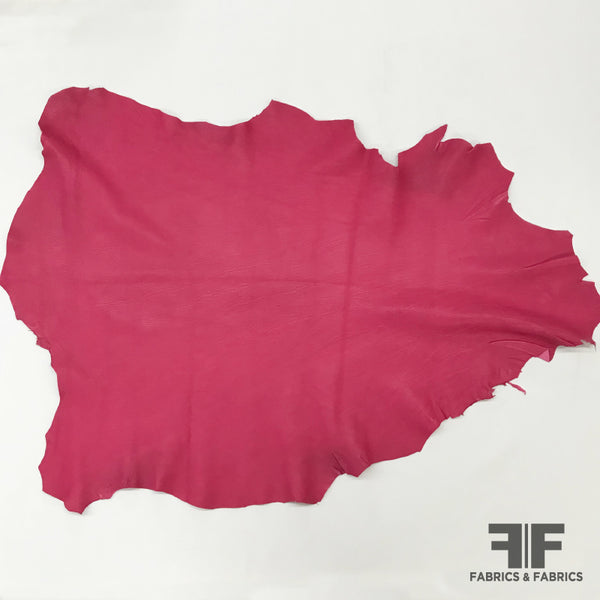 Hot Pink Solid Leather Hide - Fabrics & Fabrics