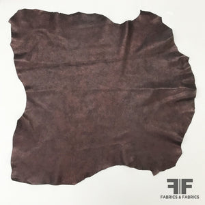 Solid Cow Hide - Deep Purple/Brown - Fabrics & Fabrics