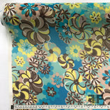 Abstract Floral Printed Silk Chiffon - Multicolor - Fabrics & Fabrics NY