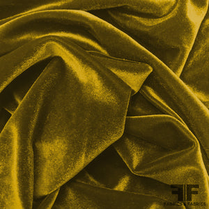 French Solid Panne Velvet - Yellow Gold