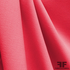 Italian Double Faced Wool Crepe - Bright Pink
