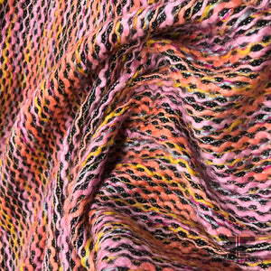 Zig Zag Wool Tweed - Multicolor - Fabrics & Fabrics