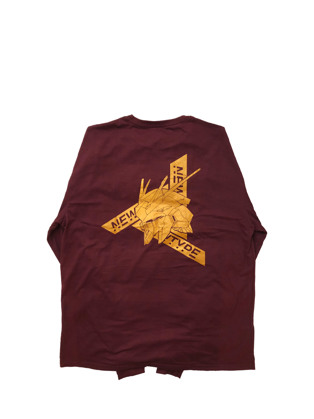 REVISED LONG SLEEVE GOLD MAROON