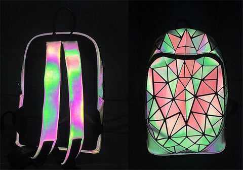 Luminesk Backpack Holographic School Bag
