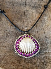 Mermaid Beaded Shell Pendant Necklace - Succulent Treasure