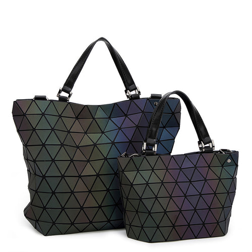 Luminesk Starlight Tote Messenger Handbag - Succulent Treasure