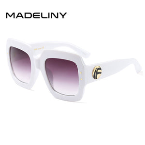 Popular Sunglasses Luxury Women Brand Designer Square Summer Style Big Frame Top Quality UV Protection Sun Glass - Succulent Treasure